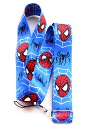 Chinese  hot sell, Wholesale 100pcs Spider-man Neck Lanyard with Clip Key ID phone Chain mix color Mix order DHL Free Shipping manufacturers