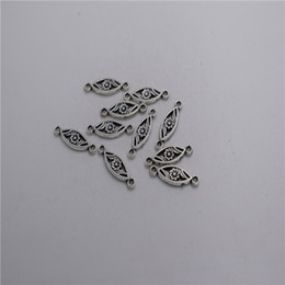 $enCountryForm.capitalKeyWord NZ - new Materials: zinc metal alloy 17*7mm,loop:1mm 20pcs Antique silver plated 2 hole oval flower pendant connector T0204