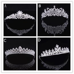 Discount crown luxury hair - Luxury Bridal Tiara Crown Crystal Pageant Bridal Wedding Accessories Headpiece Headband Wedding Tiara Rhinestone