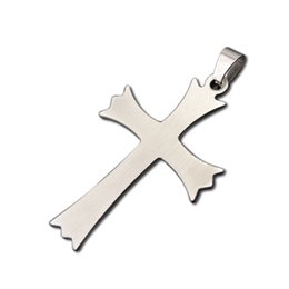 online shopping Religious a Stainless Steel Stamping Blanks Cross Dog Tag Lobster Jewelry For Your Design Sports DIY Pendant Charms