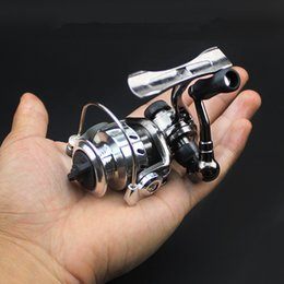 Ice Fishing Reel Mini Spinning Reels Pequeño Zinc Alloy All Metal Spool Delicate Front Drag MN100 en venta