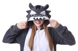 $enCountryForm.capitalKeyWord NZ - Unisex Adult Cosplay Flannel Anime Cartoon Onesie Adult Pajamas Animal Outfit Loungewear wolf