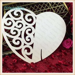Card Laser Designs Canada - 60X Free Shipping Laser Cutting Heart Lace Design Paper Wedding Party Decorations Wine Glasses Place Seat Name Cards Party Table Decor