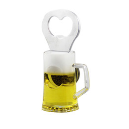 $enCountryForm.capitalKeyWord Canada - Promotion Gifts Acrylic Beer Mug Opener With Fridge Magnet Manufacturer 36pcs lot Polybag Packing Drop Shipping