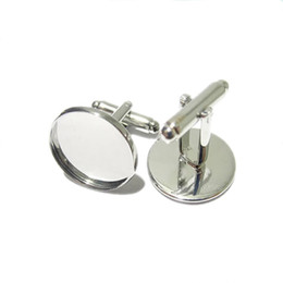 Round Copper Trays UK - Beadsnice cufflink parts for jewelry making brass handmade cufflink wholesale with 16mm round cabochon tray ID8896