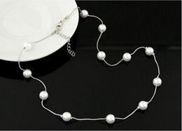 $enCountryForm.capitalKeyWord Canada - New Pendant Necklaces Woman Jewelry Elegant Ladies Chains Pearl Choker Chunky Statement Bib Necklace necklet for Wedding Prom Party Free DHL