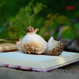 plants for fairy gardens Australia - Eco-Friendly Lovely Fairy Garden Miniatures Resin Hedgehog Figurine For Adults Child Office Decoration Desk Ornament