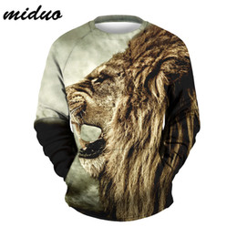 sports baseball uniform Canada - Wholesale lion head digital printing sports and leisure wild baseball uniform sweater men and women long-sleeved sweater clothes 3D jacket