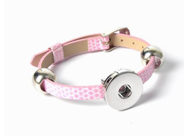 Chunks Button Bracelet Canada - 2016 Hot Snap Button Bracelets Newest Design Fashion NOOSA chunks Leather Bracelets Fit Noosa Chunk DIY Rivca Snaps Jewelry