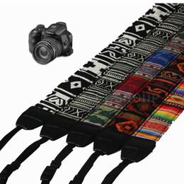 Camera Shoulder Strap Canada - Wholesale Vintage Camera Shoulder Straps Neck Strap Belt For SLR DSLR Nikon Canon Sony Panasonic