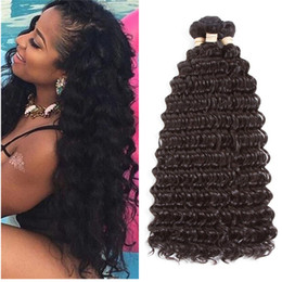 Human Hair Extension Wholesale Factory NZ - Peruvian Deep Wave Hair Weave 3 Bundles Remy Human Hair Extensions 10-30 Inches Mix Length Available Smooth Deep Wave Curly Factory Price