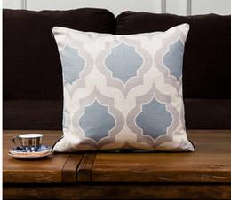 $enCountryForm.capitalKeyWord Australia - Decration cushion sofa cushion Europe design pillow cover with inner cushion together printing cotton fabric size 43*43cm weigh 180g strip