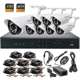 8ch Dvr Hd Canada - 8CH 1080P HD-TVI DVR HD IR CCTV 3.6mm Lens Security Waterproof Camera TVR System
