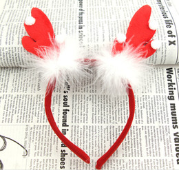 Best Gift For Xmas Australia - 15% off new arrival Christmas headwear Antlers feather head hoop children hair accessories for girls best xmas gift drop shipping 25pcs RD