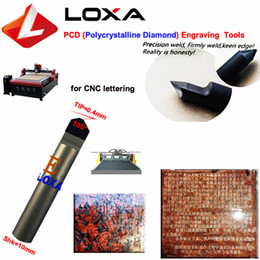 tools for granite Canada - LOXA E105-0.4 cutting type Diamond Grinding tool ,CNC lettering tools , PCD tools for CNC engraving small letters in granite