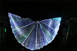 led wings NZ - LED butterfly opening wing belly dance wing led isis wing girl party dress ballroom dance dresses led dance costumes fashion cloak