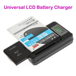 Battery Chargers For Cell Phones Canada - Intelligent Indicator Digital LCD Universal Cell Phone Home Dock Battery Charger With USB Port for Samsung Galaxy S4 S5 S6 LG HTC Mobile