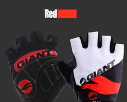 Giant half finGer Gloves online shopping - Giant Half Finger Cycling Gloves for men and women Hot Brand Slip for mtb bike bicycle guantes breathable ciclismo racing luvas sport glove