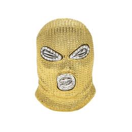 Опт Хип-хоп CSGO кулон ожерелье мужские панк-стиль 18k сплава золота посеребренные Маска глава Шарм кулон высокое качество кубинской цепи