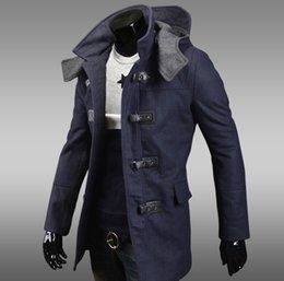 Trench Coat Men Hood Wool Online | Trench Coat Men Hood Wool for Sale