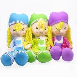 $enCountryForm.capitalKeyWord NZ - Girl Mini Dolls 15 inches Set of 3pcs) Confused Baby dress angel doll plush toys Christmas Festival Holiday Gift