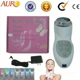 ultrasonic for instruments 2018 - Best choice!!! CE approved seven color photon ultrasonic beauty & health instrument for skin rejuvenation AU-013 cheap u