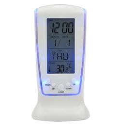 Escritorio mayor alarma relojes de mesa Digital LED Calendario Termómetro brillantes luces relojes regalos Luminoso tumbona silenciado temporizador de cuenta atrás 65 llevó
