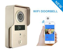 IP Wifi Video Door Phone Bell Home Security Camera Wireless Video Intercom  Via Mobile Smart Phone Control Unlock Record Take Photo FRID Card