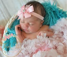 Livraison gratuite En Gros 18 couleurs Strass Dovetail bow bébé bandeau enfants bandeau en Solde