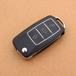 Wholesale 3 Buttons Flip Folding Car Key Shell Replacement Car Key Case Cover for VW Volkswagen Jetta Golf Passat Beetle Polo Bora