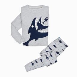 $enCountryForm.capitalKeyWord UK - New Children Pajamas Boys Sleepwear Cartoon Shark Dinosaur Pyjamas Two piece set Cotton Nightwear homewear 2017 Autumn Winter