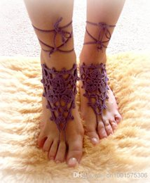 Barefoot Sandals Feet Canada - Crochet Barefoot Sandals Beach Pool Wear Yoga Shoes Valentine, Feet Fetish, Goth, Pick your Color