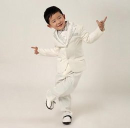 Sale Dress Suits Canada - new boy's suit luxurious atmosphere white silver dress wear suits small sales in children