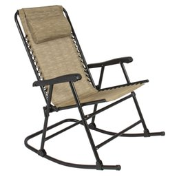 Best Choice Products Folding Rocking Chair Rocker Outdoor Patio Furniture  Beige Rocking Chairs Outlet