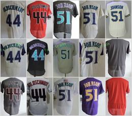 arizona diamondbacks 44 paul goldschmidt 51 randy johnson blank flexbase jerseys cool base throwback stitched red