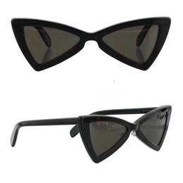 57c22c8bf0 SL207 Gafas de sol Moda Mujeres Marca Heart Full Frame 207 Modelo UV400  Lente Verano Estilo Adumbral Butterfly negro Blanco Color rojo Con estuche