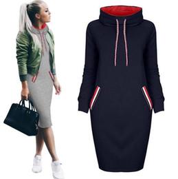 b09864c94c98 Vestiti eleganti xl online-Donna Autunno Inverno Abito manica lunga Nero  Pullover rosso Inverno Felpa