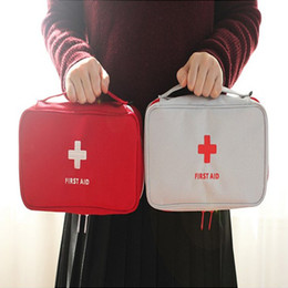 Barato Saco Médico Home-2017 New Portable Empty First Aid Bag Kit Pouch Home Office Medical Emergency Travel Rescue Case Bag Pacote Médico Qualidade Superior