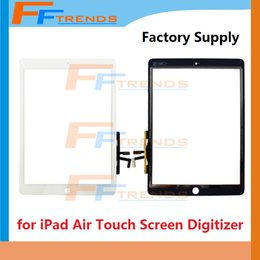 Screen For Ipad Price Canada - for iPad Air Touch Screen Digitizer Replacement Repair Parts Black White Glass Touch Panel High Quality Factory Supply Wholesale Price