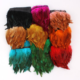$enCountryForm.capitalKeyWord NZ - Free Shipping 10yards lot black orange red green hot pink royal Blue turquoise purple yellow Rooster feather trimming fringe