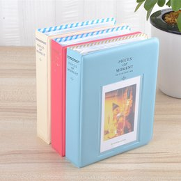 64 bolsillos Almacenamiento de la caja del álbum para la foto FujiFilm Instax Tamaño de película mini, 11 cm * 14,2 cm * 3,3 cm, nuevo mini-álbum CutePolaroid
