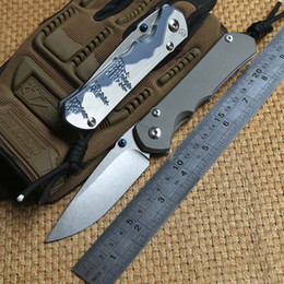 online shopping Chris Reeve Large Sebenza Titanium Handle D2 steel blade Folding Pocket hunting Knife camp Tactical survival outdoor knives edc tools