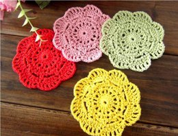 $enCountryForm.capitalKeyWord NZ - DHL Handmade Crochet Lace Pattern Crocheted Cotton Doilies Cup Pad Mats Table Cloth Coasters Round Dial 12cm Custom Colors