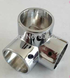 $enCountryForm.capitalKeyWord NZ - Tee Pipe fittings Stainless Steel Racks For Hanging Clothes Holder 25mm Shelf Connector Corner pieces 8PCS