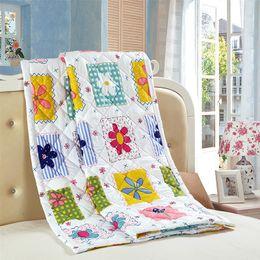 Summer Bedding Sets Canada - Wholesale- Home textile Patchwork quilts blankets sheet for summer duvet set quilt set king bedding set bed linen cartoon home decor sheet