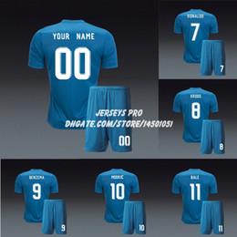 real madrid green uniform 2019 - Real Camiseta Madrid Soccer Uniform 2017 2018 third blue Jerseys Kits Gareth Bale Cristiano Ronaldo Isco Toni Kroos Luca