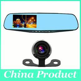 $enCountryForm.capitalKeyWord Canada - Car DVR Video Recorder Rear View Camera 4.3 inch 1080P Dual Lens Two Cameras Blue Mirror Full HD 120 Angle 010226