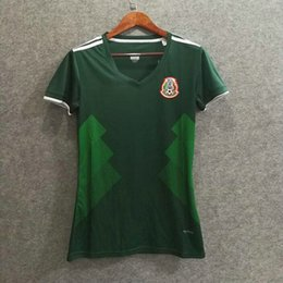 f3f8c2a77cd ^_^ Wholesale 2018 mexico home women soccer jerseys thai AAA quality custom  name number lady soccer uniform girl football shirts