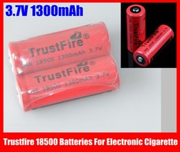 Electronic Imr Canada - Trustfire IMR 18500 Batteries 3.7V 1300mAh Li-ion Rechargeable Battery For Electronic Cigarette Free Shipping