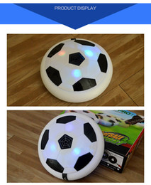 $enCountryForm.capitalKeyWord Australia - Air Power Soccer Disc Suspended Football with EVA Bumpers LED Light up Hover Disk Gliding Ball Children Disc Toy for Indoor And Outdoor